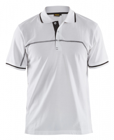Blaklader 3389 Pique Polo Shirt (White/Dark Grey)